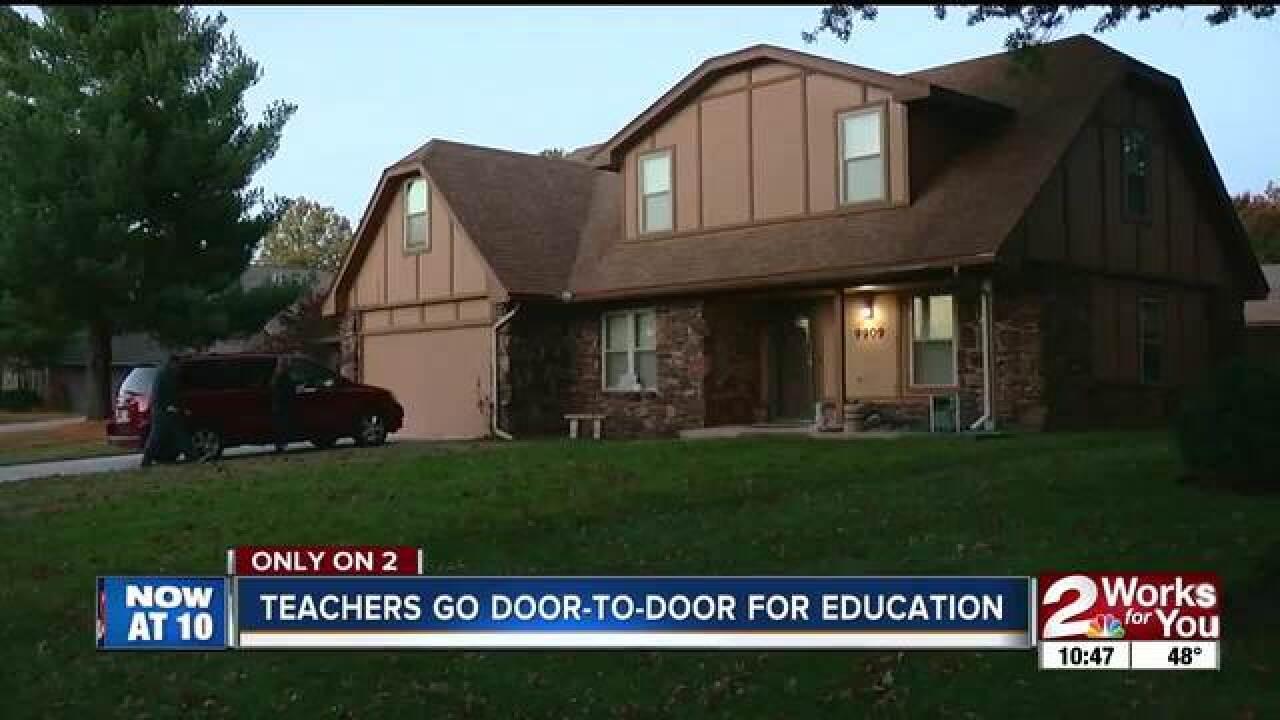 Teachers go door-to-door for education