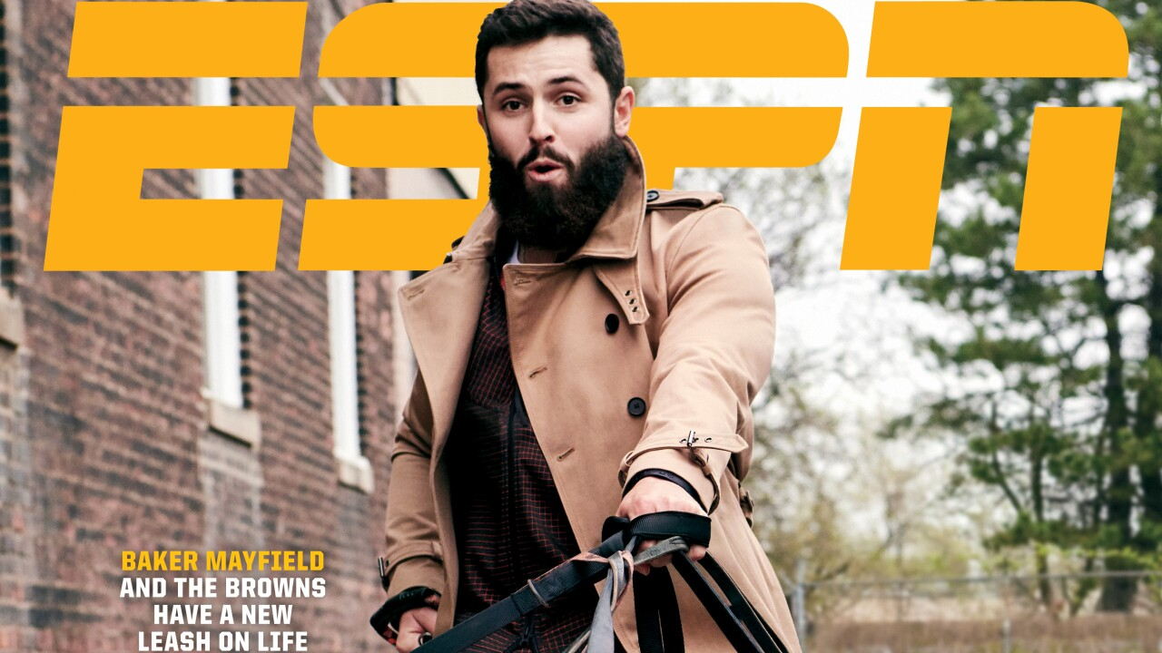 Baker Mayfield on cover of ESPN
