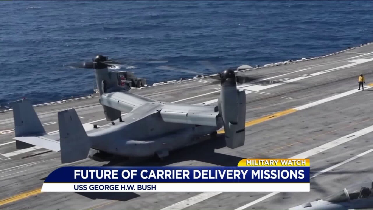 Navy tests future of carrier delivery missions on the USS George H.W.Bush