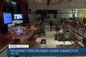 Student disciplined over his hairstyle