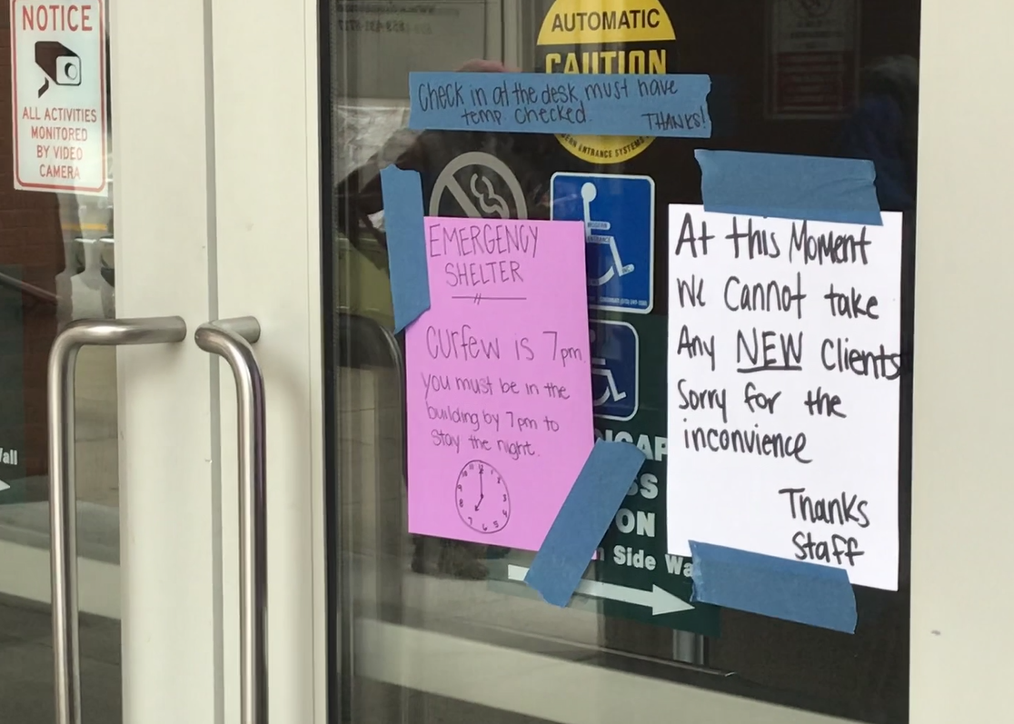 Sign_on_convention_center_door.png