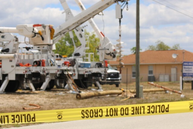 Photos: Cape Coral electrical accident scene