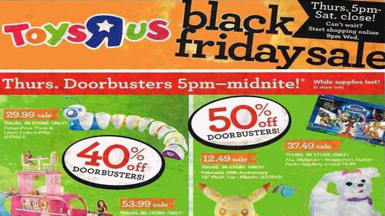 Toys R Us 2016 Black Friday ad released