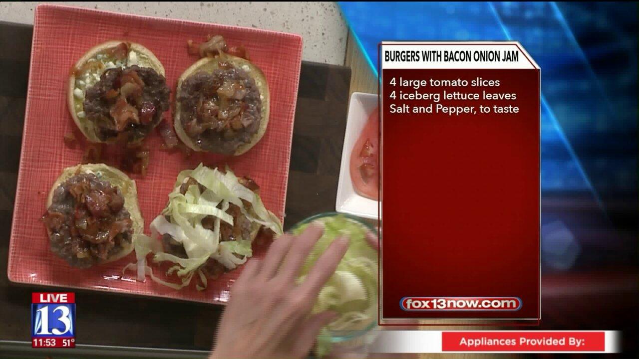 Burgers with Bacon OnionJam