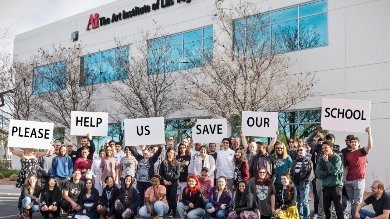 Students and staff are undertaking an ambitious plan to save the troubled Art Institute of Las Vegas