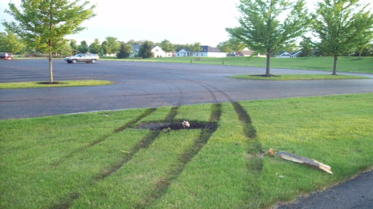 Teenagers hurt while doing donuts in a pick up truck in