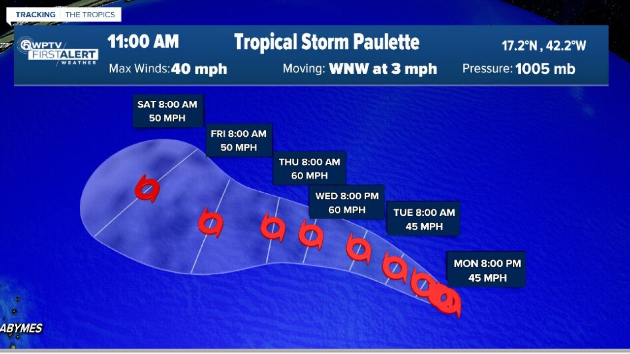 Tropical Storm Paulette forms in Atlantic Ocean, experts watching tropical depression 18