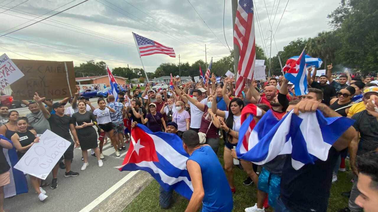 Cuban protests in Tampa