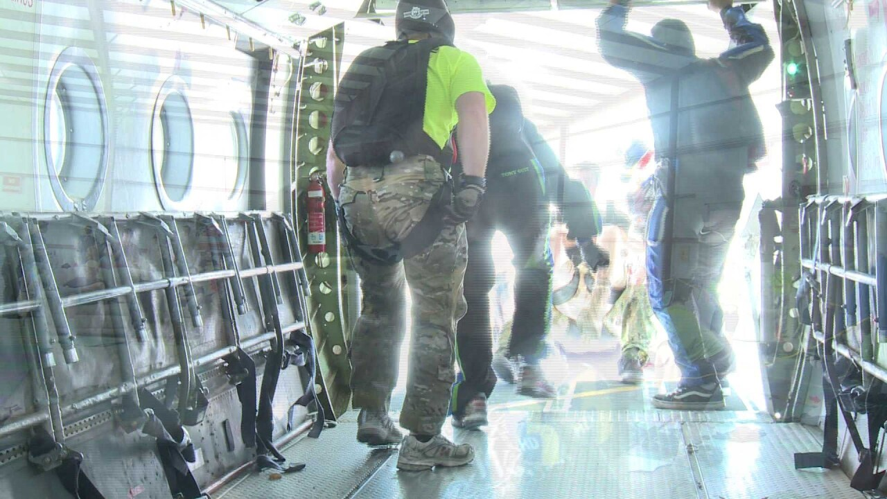 "Wounded Warriors ""Jump for a Purpose"" in Suffolk"