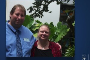 Brian Hitchens and his wife are both hospitalized at Palm Beach Gardens Medical Center battling the coronavirus.