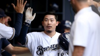 Keston Hiura after HR