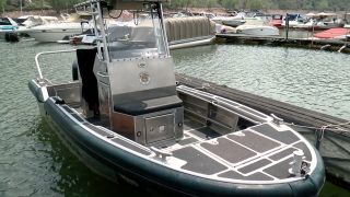 Larimer County Department of Natural Resources ranger boat
