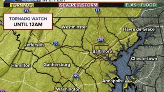 Tornado Watch Issued Until Midnight