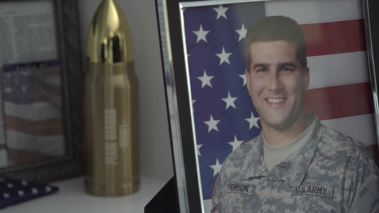 Robyn Thomson says her husband, the late Lt. Col. Todd Thomson, loved everything about his service in the U.S. Army. He passed away after a cancer diagnosis in 2015, after serving in several deployments to Iraq.