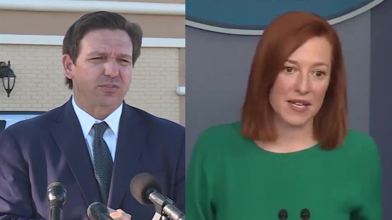 Florida Gov. Ron DeSantis says White House Press Secretary Jen Psaki was 'disingenuous' in her comments about the COVID-19 vaccine in the Sunshine State