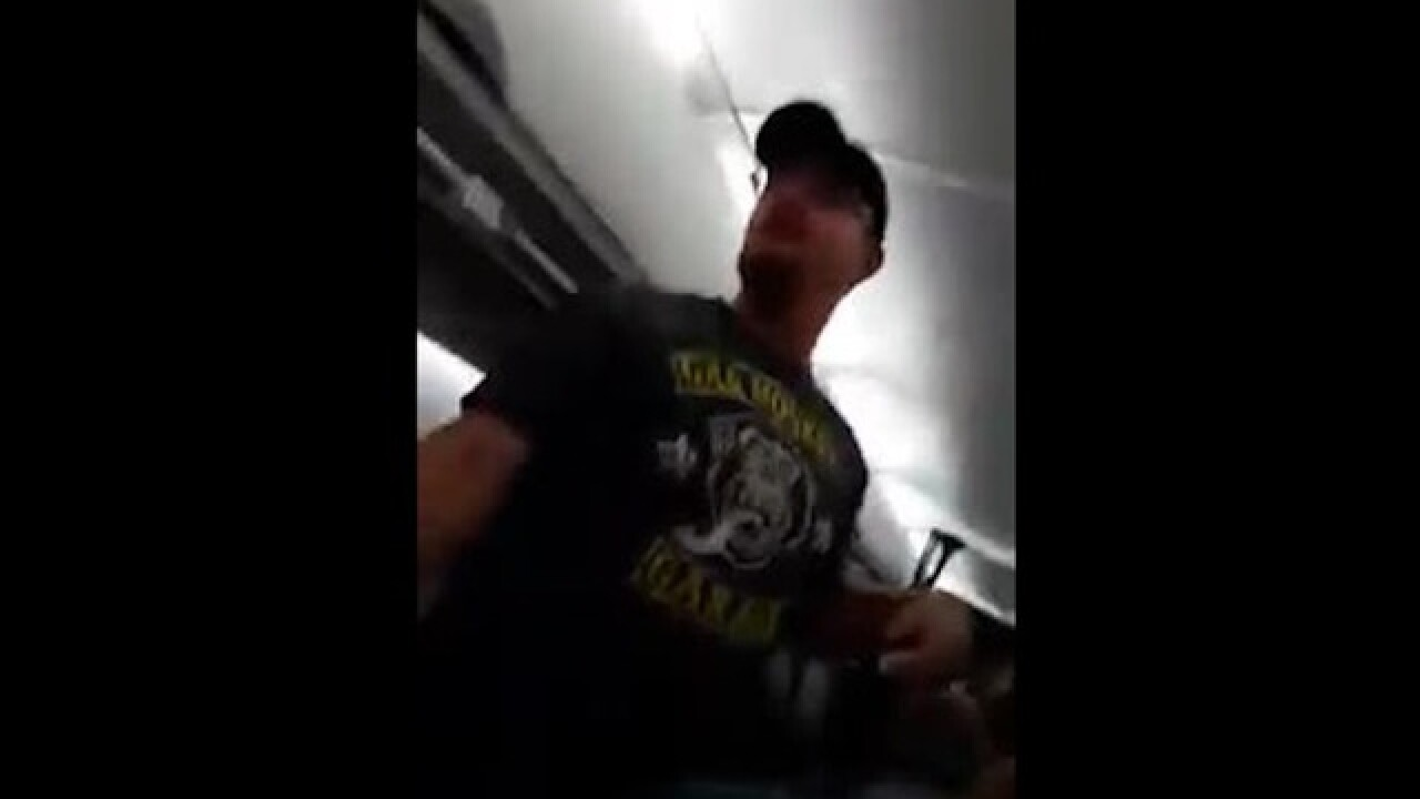 Trump supporter yells at 'Hillary b-tches' in airplane rant