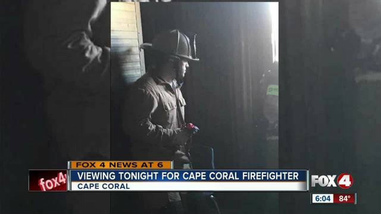Viewing for late Cape Coral firefighter