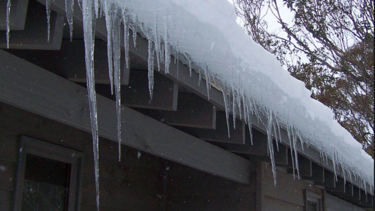 Icicles on a house can be dangerous.