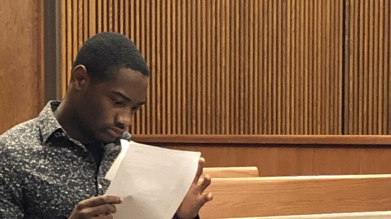 Jabriel Williams, 18, appears in court for his arraignment.