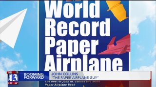 Booming Forward: The man who made the world record setting paperplane