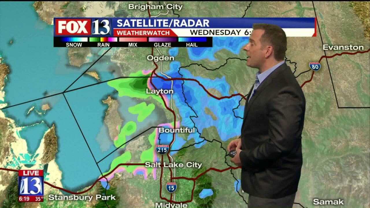 Spring storm brings rain, lake effect snow to parts of Utah