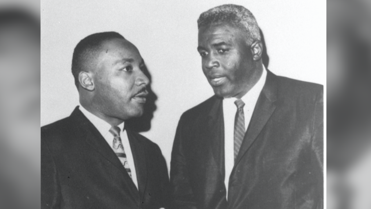 Dr. Martin Luther King Junior and Jackie Robinson