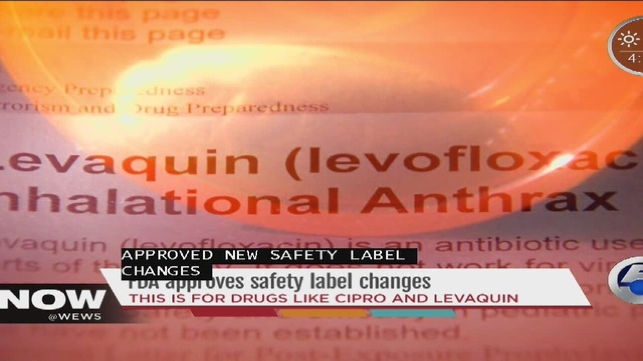 FDA issues updated warnings for Levaquin, Cipro