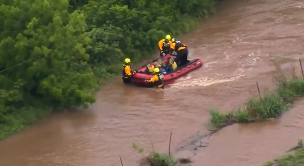 Photos: Watch: Victims of Oklahoma flooding saved byrescuers