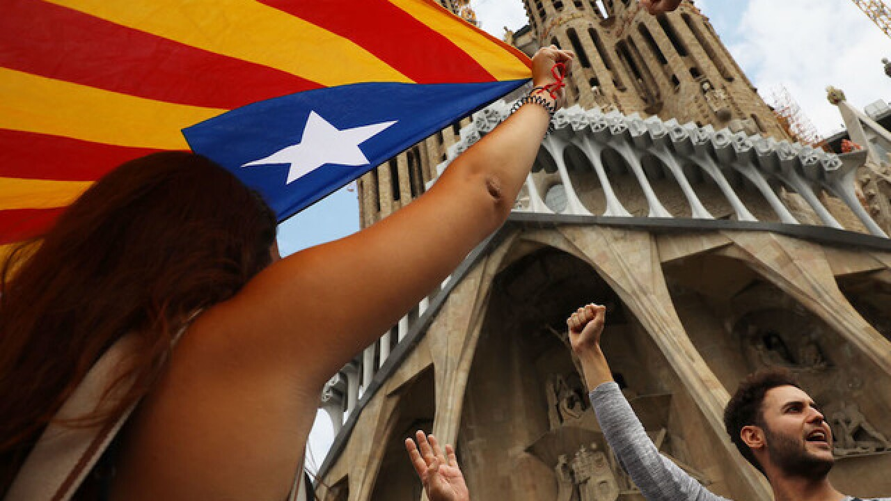 Catalan lawmakers vote to split from Spain amid independence crisis