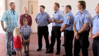 Man surprises Pasco County first responders that saved his life and grass after heart attack