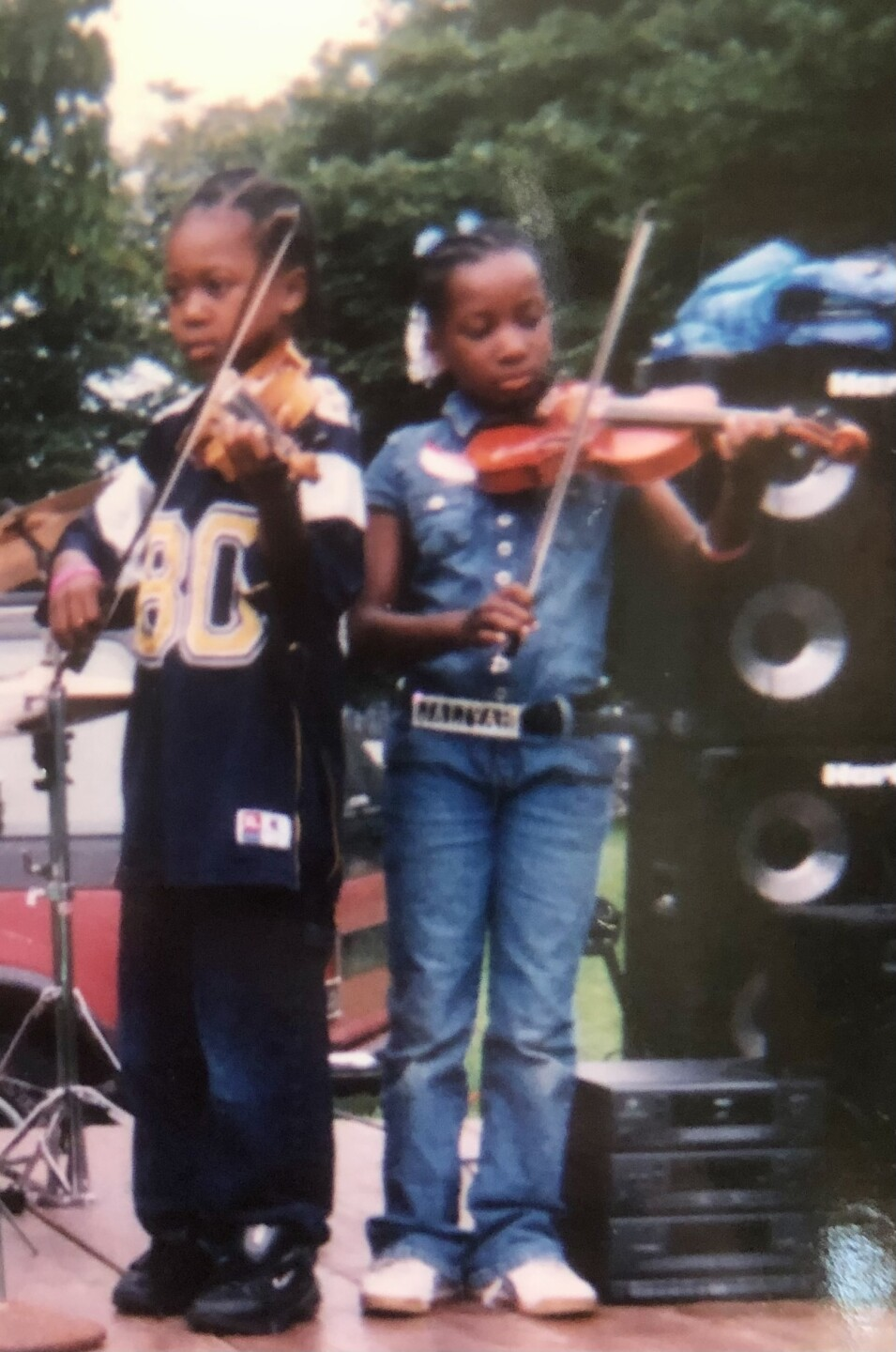 Johnny and Jaliyah Linton both picked up their violins for the first time at 5 years old