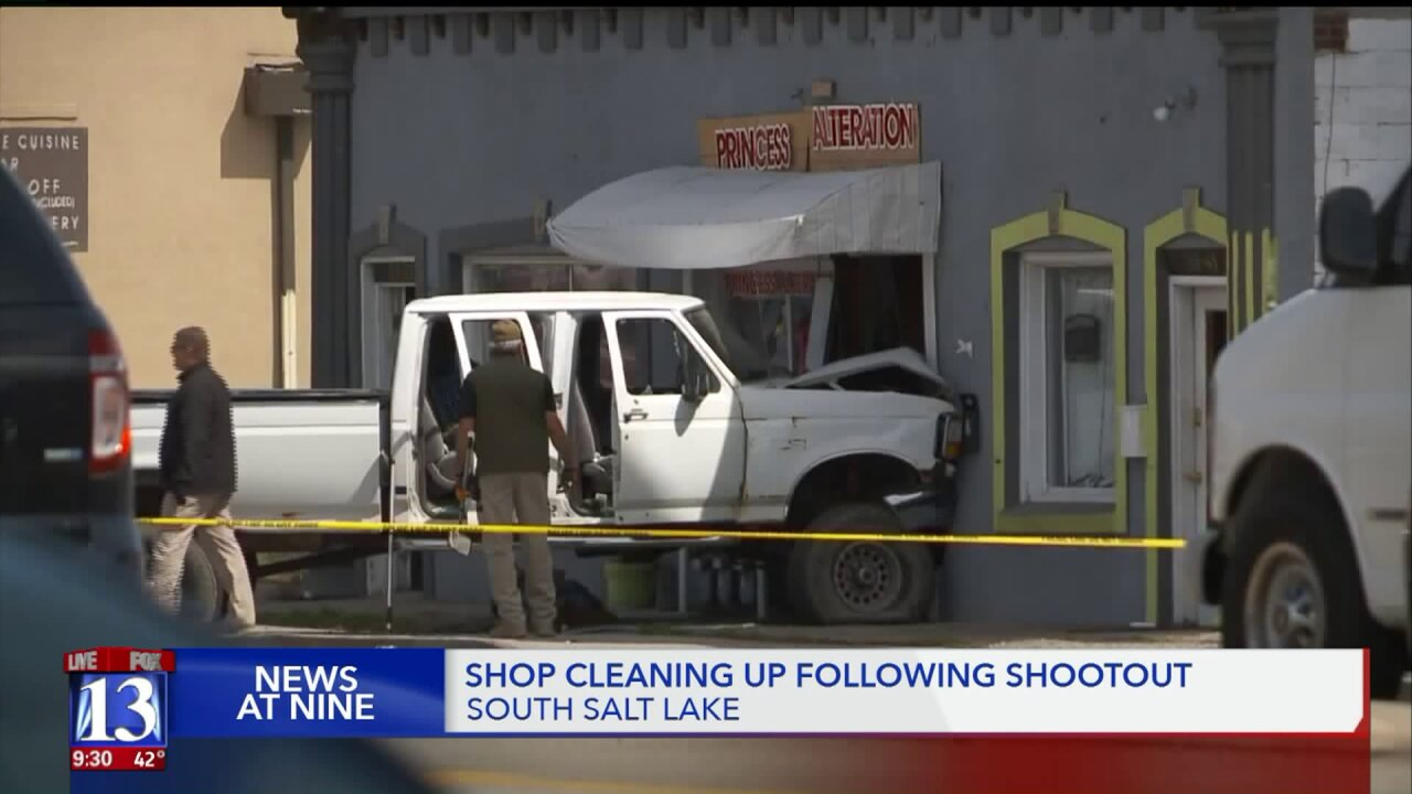 Owner of business where SLC chase ended speaks on recovering after crash,shootout