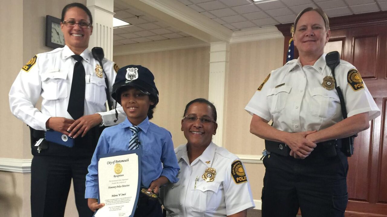 8-year-old author becomes Portsmouth Police Detective for a day