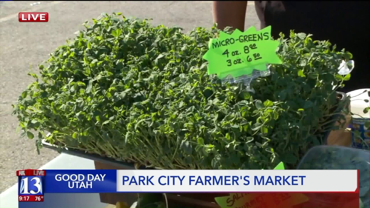 Farmers market brings produce to Park City on Wednesdays