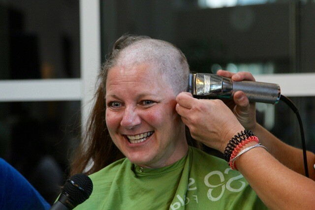 PHOTOS: Head-shaving fund-raiser nets $16,000 for child cancer research