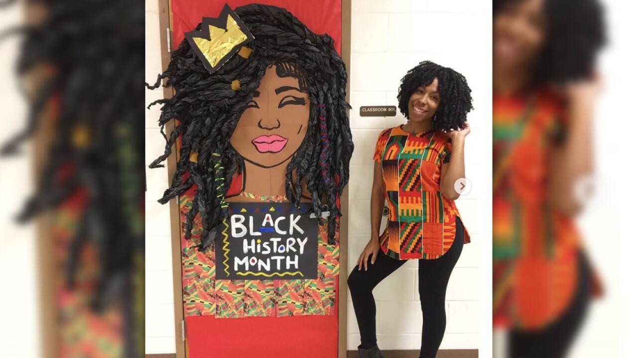 Artist teaches Black History Month