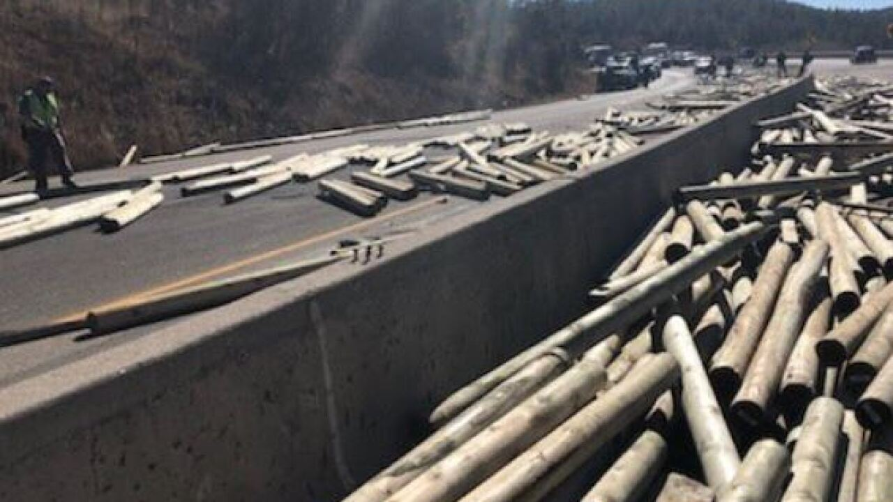 I-25 from Exit 11 to the New Mexico State line is closed due to a commercial vehicle crash