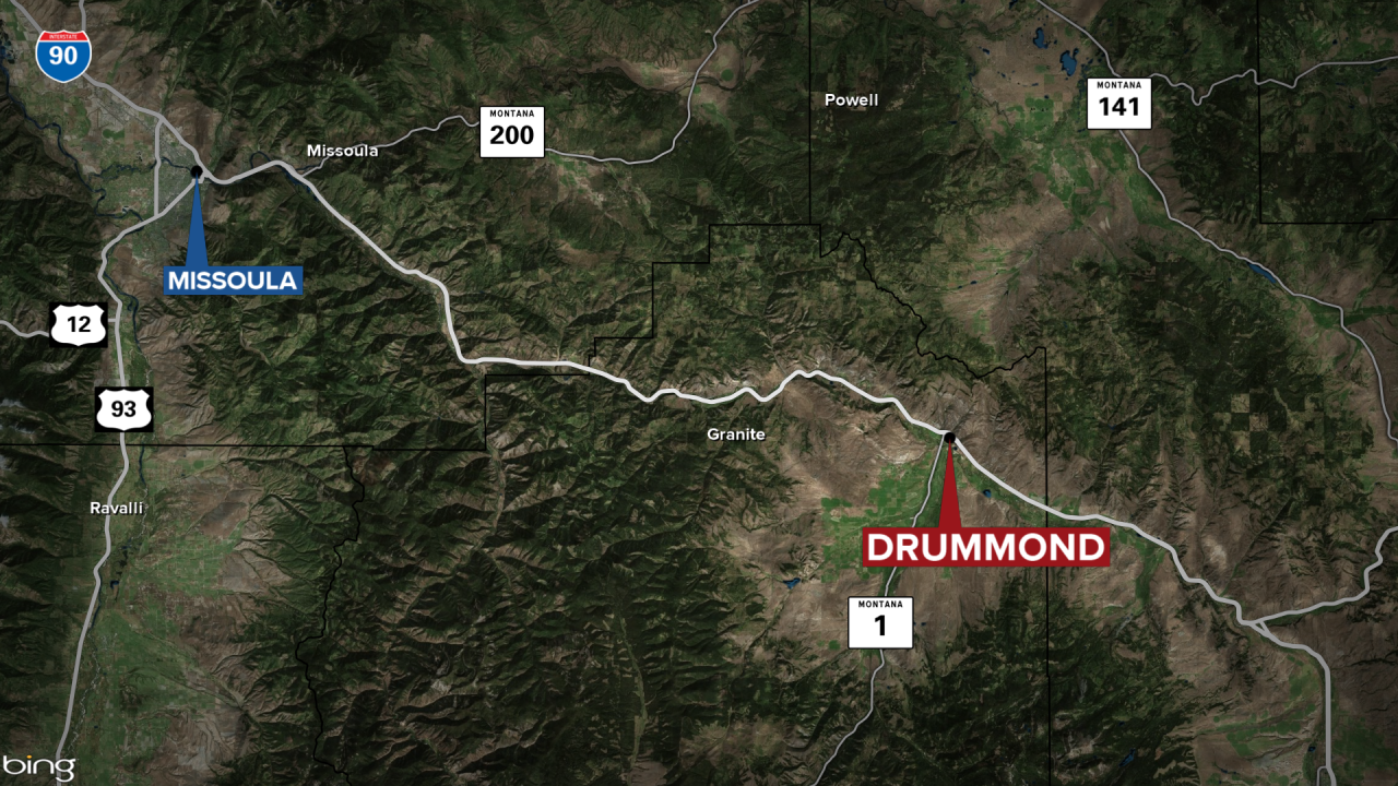 Drummond I90 Fatal Crash Map