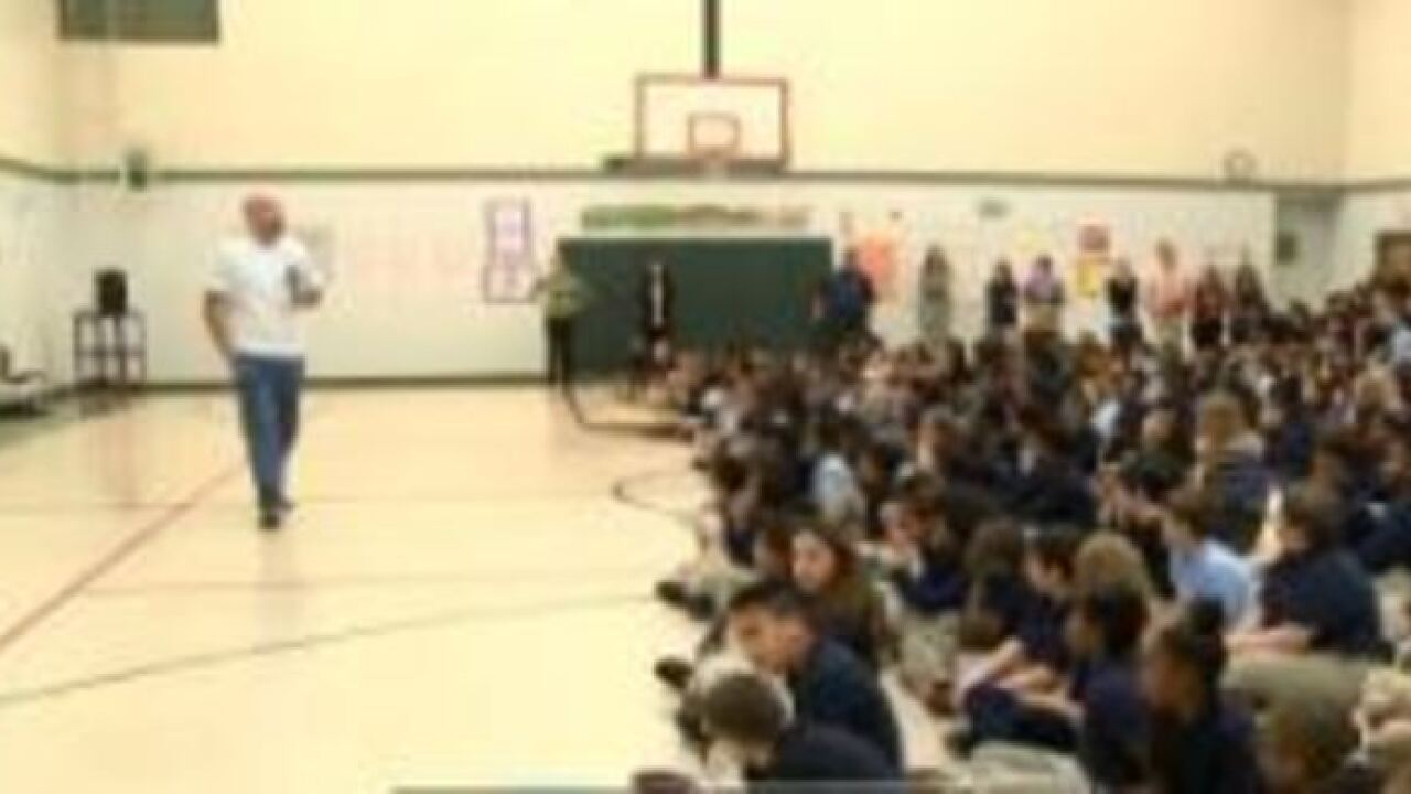 Former Spartan talks anti-bullying to local kids