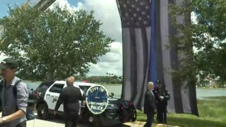 Officer Adam Jobbers-Miller's funeral procession