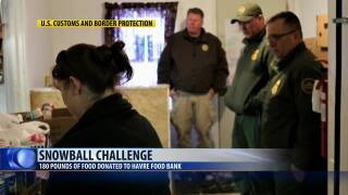 Snowball challenge helps Havre food bank