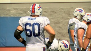 Mitch Morse at practice