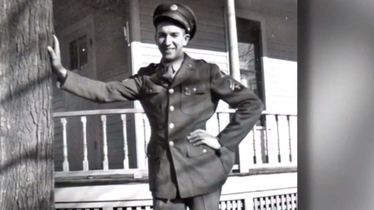 World War II veteran George Schulz in his uniform