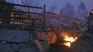 Nevada Wildfire Power Lines