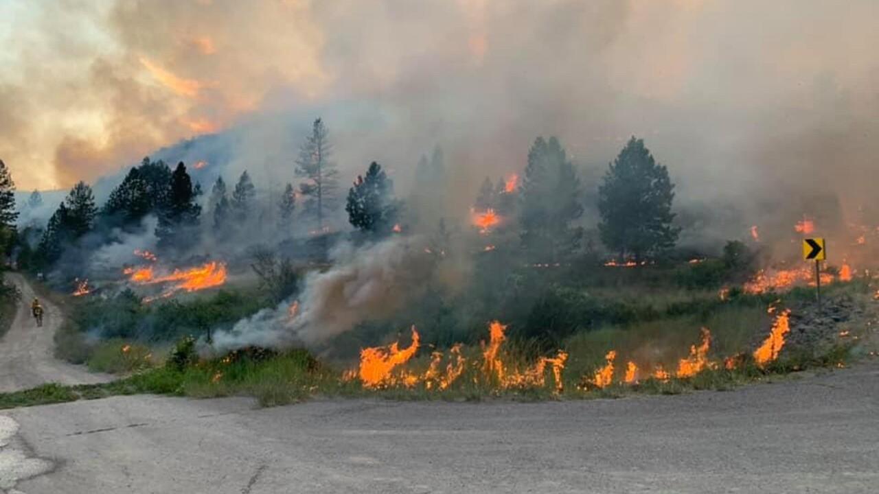 Crews battling wildfire near Hot Springs