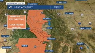 Heat Advisories in effect until Saturday night