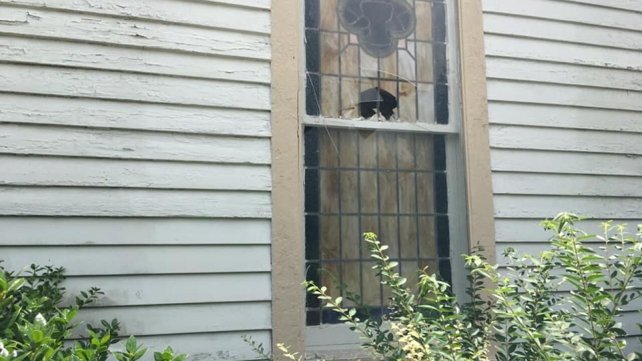 Crowley church vandalism