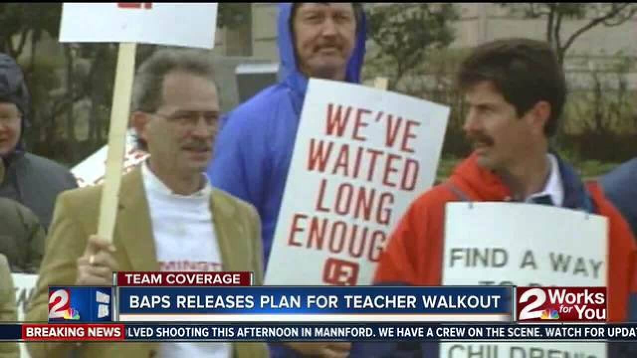BAPS releases plans in event of teacher walkout