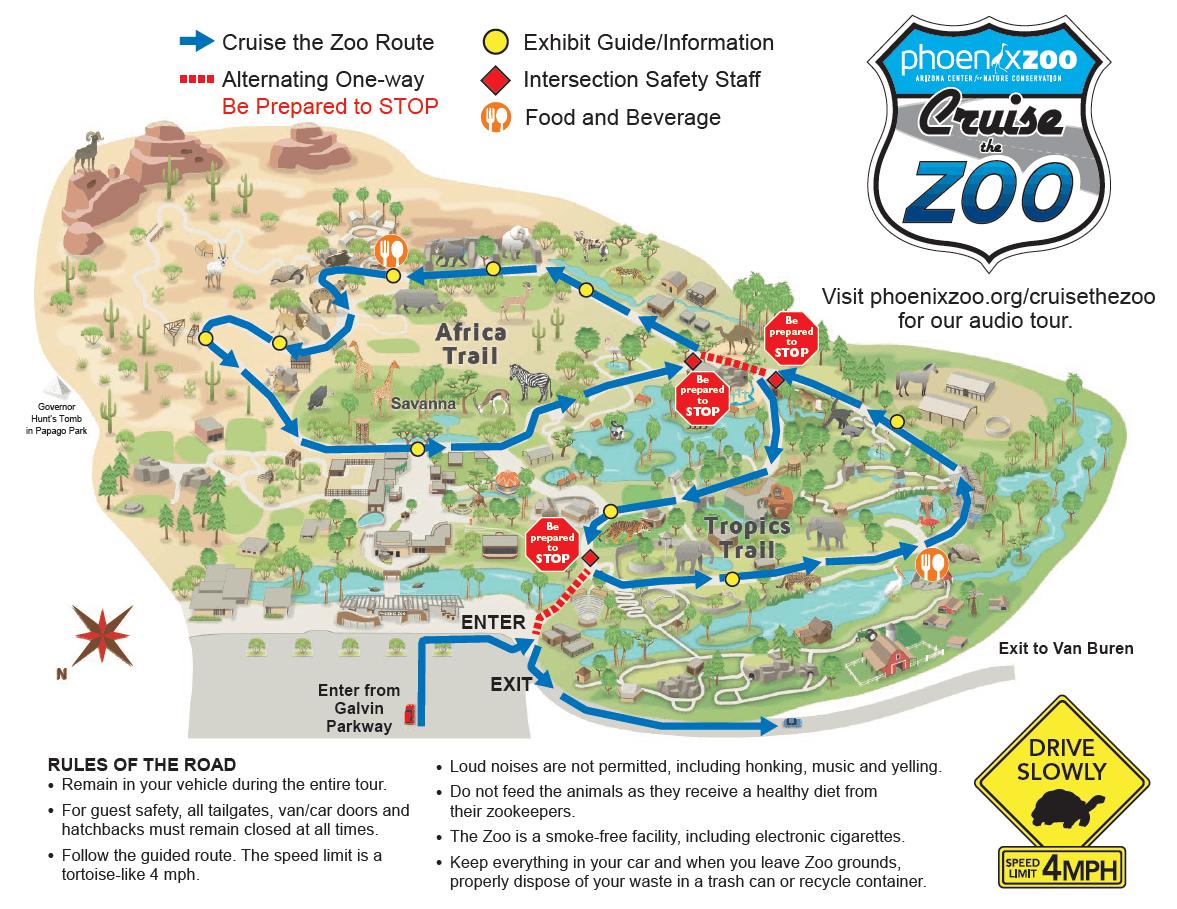 Phoenix Zoo Cruise The Zoo Map