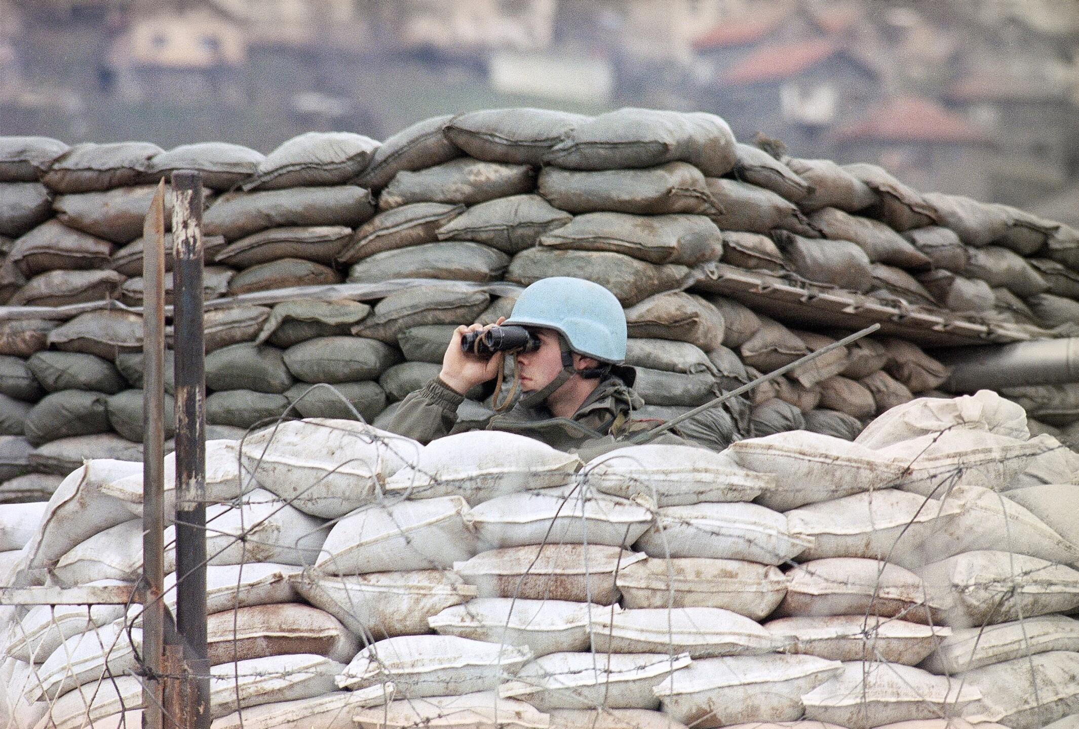 Bosnia Civil War UN Troops